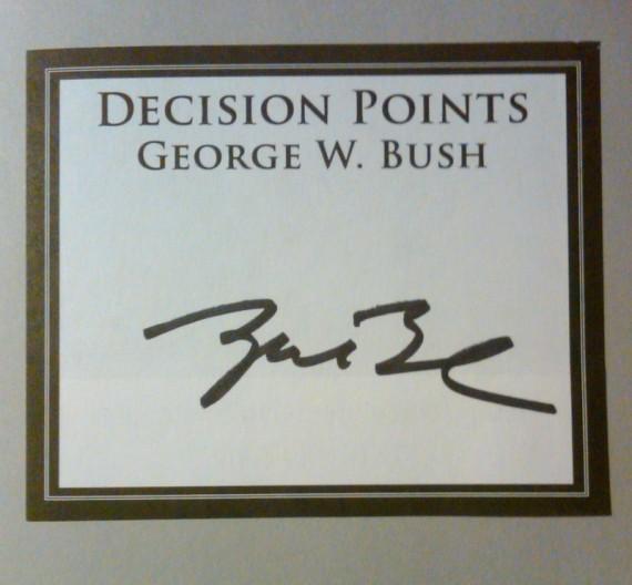 George W.'s Autograph