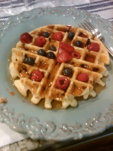 Waffles & Fruit