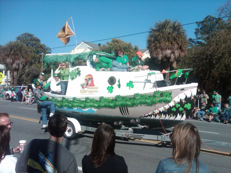 Green Decorated Boat