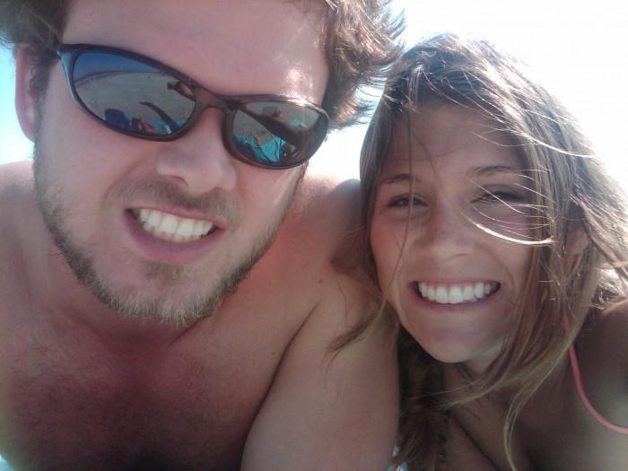J & Me on the Beach