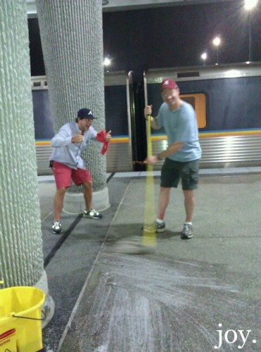 Jay and Justin Mopping