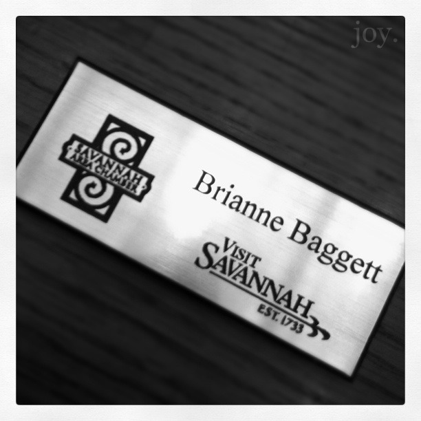 Visit Savannah Nametag