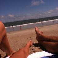 jus' beachin' it.